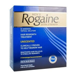 Rogaine Minoxidil tratamento para três meses