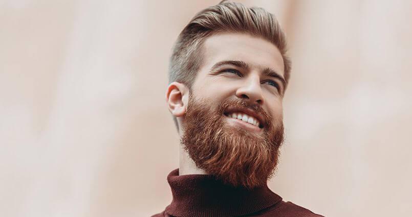 modelo de barba cheia