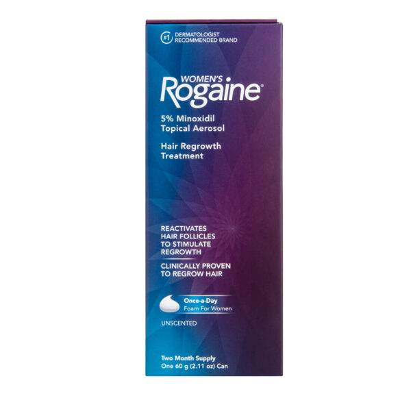 minoxidil 5% rogaine dois meses espuma para mulheres