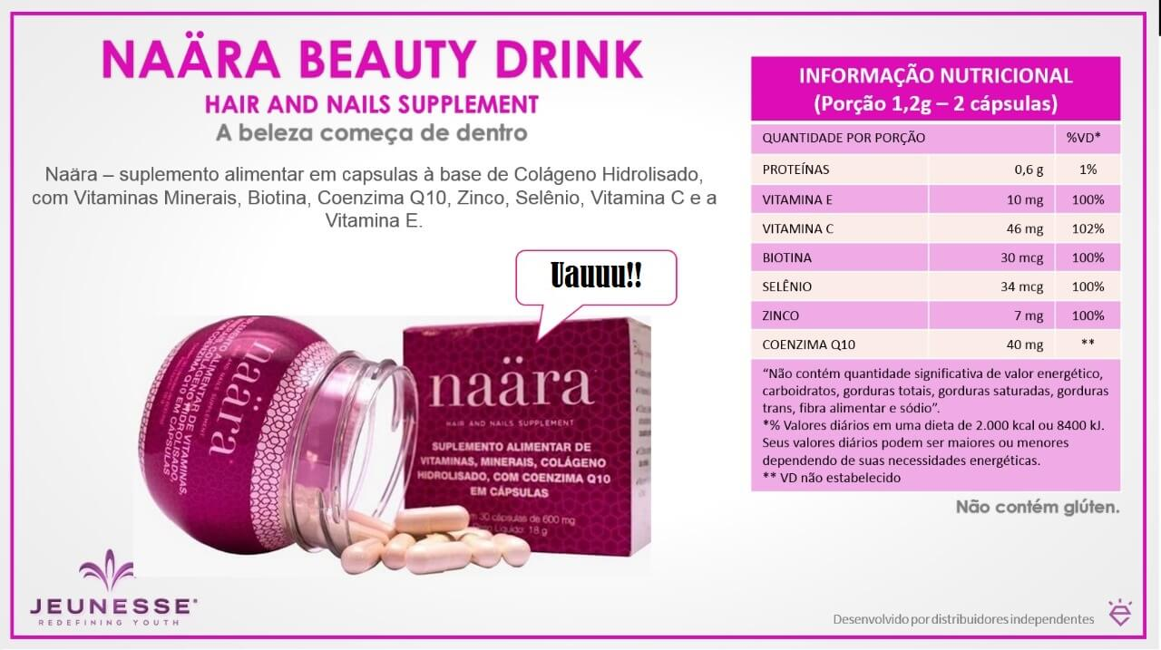 informacoes nutricionais naara hair and nails