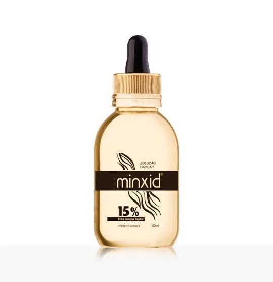 frasco de minoxidil 15% da minxid