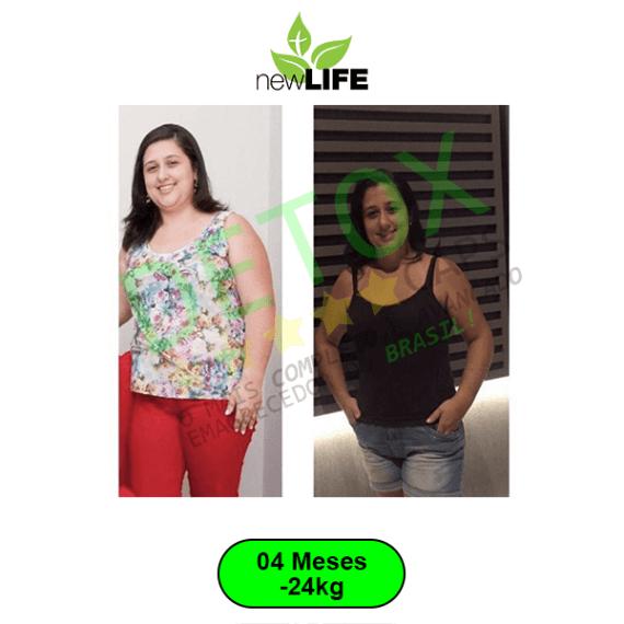 antes e depois quatro meses detox caps